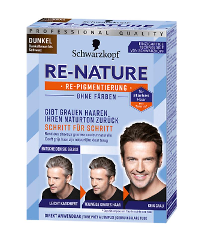 Schwarzkopf Re-Nature Re-Pigmentierung für Männer Dunkel ohne Färben!