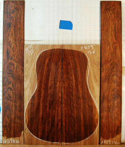 figured carribean rosewood  tonewood guitar luthier set back and sides