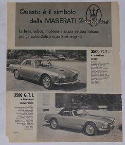 Advert-Pubblicita-1962-MASERATI-3500-GTI-COUPE-3500-GTI-CONVERTIBILE