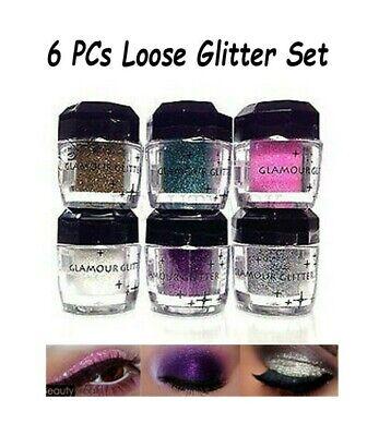 6 PCs Beauty Treats Multi-Purpose Loose Glitter for Eyes, Fa