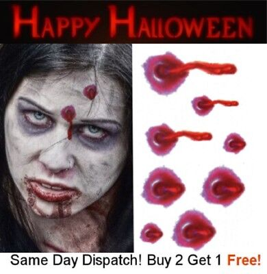 Halloween Zombie Scars Tattoos Fake Blood Scar Wound Bullet Hole Make-Up Kit UK - Halloween Makeup Bullet Hole