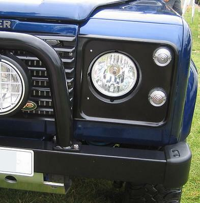 "Halogen Crystal headlamps for Land Rover Defender head lights H4 round 7"" 90 110"