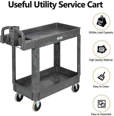 Heavy Duty Utility Cart Storage Work Cart With Wheels Safely Holds Up To 550 Lbs