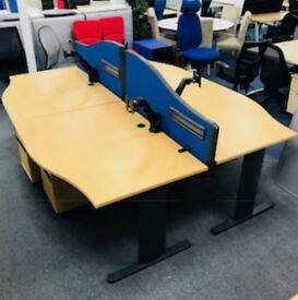 Beech wave desk cheap