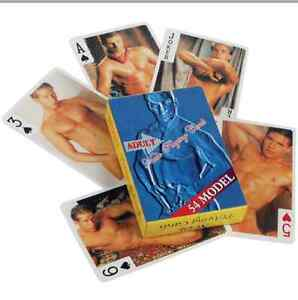 Male nudie cards adult playing cards games fun joke 54 models nude games gay