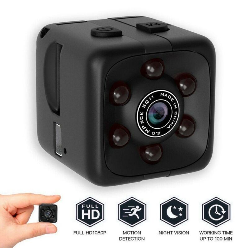 HD 1080P Hidden Mini Nanny Camera Home Security Cam Night Vision With Bracket