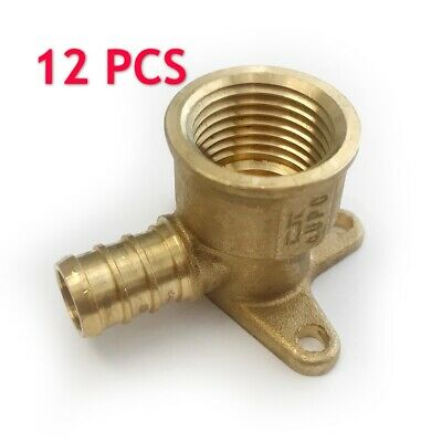 12 Pcs 12 Pex X 12 Female Npt Drop Ear Elbow Adapter Crimp Fitting-lead Free
