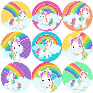 144 Rainbow Unicorns 30 mm Reward Stickers for School Teachers, Parents, Nursery