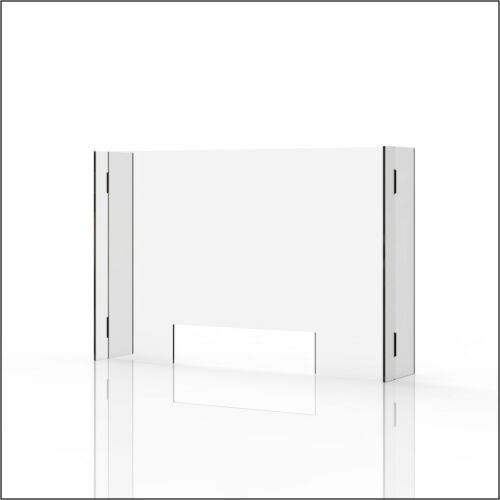 "Sneeze Guard & Shield For Counters Clear 1/4"" Plexiglass - 35"" x 23"""