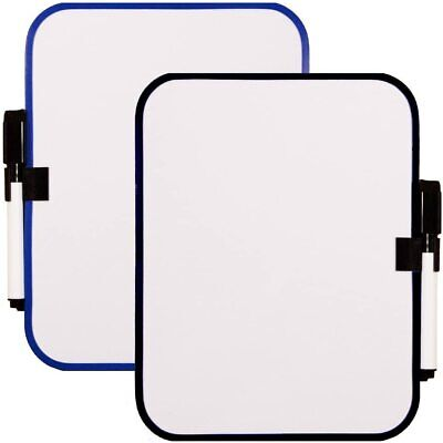 2pc White Board With Magnetic Strips Whiteboard Dry Erase Fridge Board Small Fra