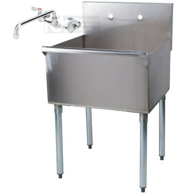 24 X 21 X 14 With Faucet Stainless Steel Commercial Utility Sink Prep Wash
