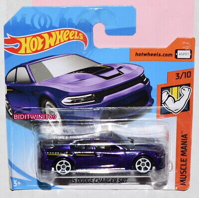 HOT WHEELS 2018 MUSCLE MANIA '15 DODGE CHARGER SRT SHORT CARD
