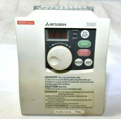 Mitsubishi S500 Fr-s540e-2.2k-na 3hp Vfd Inverter Motor Drive Works