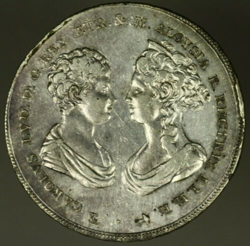 Tuscany  Silver Crown Francescone 1807  XF cleaned lacquered   A1416