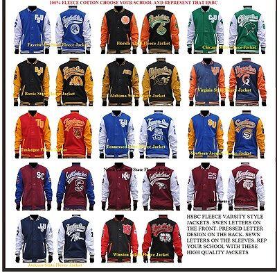 Chicago State University Fleece Baseball Jacket Hbcu College Jacket S 4X
