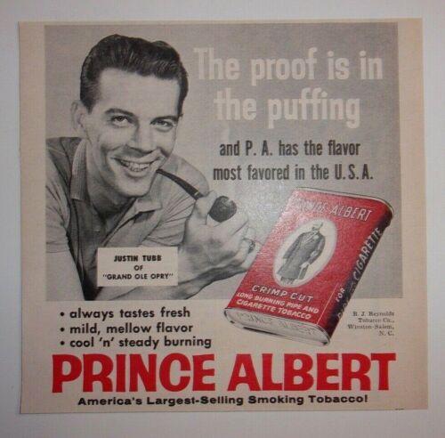 1961 Prince Albert Cigarette Tobacco Advertisement
