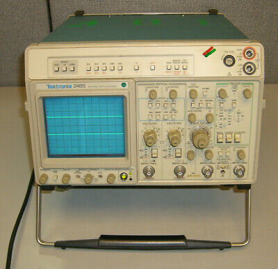 Tektronix 2465 Dm Four Channel Oscilloscope Dvm Read
