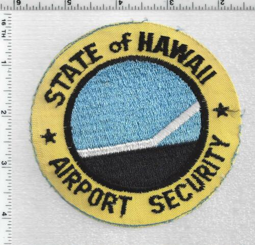 State of Hawaii Airport Security 1st Issue Uniform Take-Off Shoulder Patch