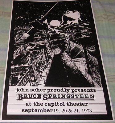 BRUCE SPRINGSTEEN 1978 PASSAIC NEW JERSEY REPLICA CONCERT POSTER