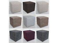 Great square poufs different colors LAWA 40x40 cm hoker footstool stool