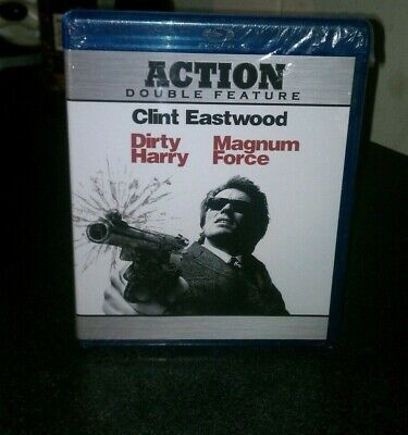 (1) Dirty Harry / Magnum Force Blu-Ray DVD - Action Double Feature - 2 DISC SET