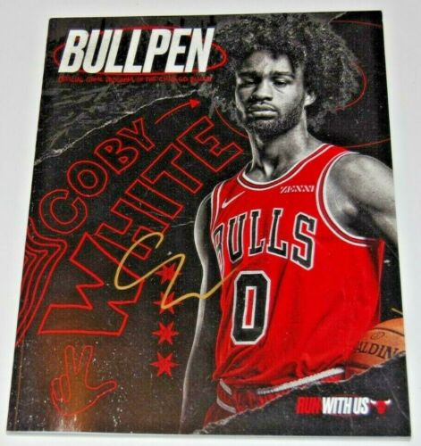 COBY WHITE signed (CHICAGO BULLS) RC Run With Us Official game program W/COA #0