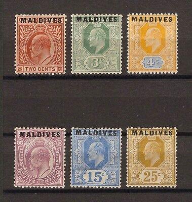 MALDIVE ISLANDS 1906 SG 1/6 MINT Cat £300