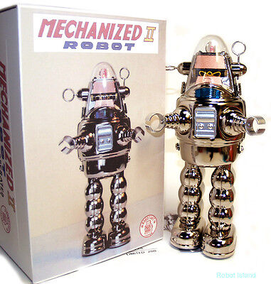 Robby the Robot Mechanized II Osaka Tin Toy Chrome Metal House