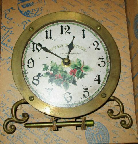 TIMEWORKS TABLE TOP JOYEUX NOEL MANTLE CLOCK  NEW