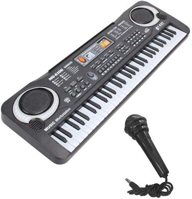 Digital Music Piano Keyboard 61 Key - Portable Electronic Musical Instrument Mul
