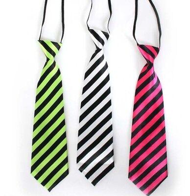 Neon Krawatte gestreift Schlips Kostüm Zubehör Karneval Party 125666913