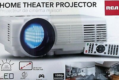 RCA Home Theater Projector Full HD 1080P - 2000 Lumens RPJ116 White