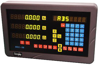 SINPO 3- axis digital readout for mill milling machine (complete DRO kit)