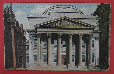 Antique Postcard Bank Of Montreal Montreal Canada