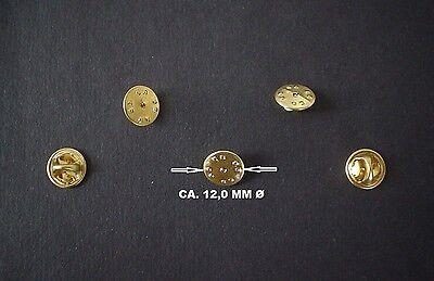 25 GOLDENE PINS - PIN VERSCHLUSS - CLIP BUTTERFLY FÜR PINS - ANSTECKER BADGE