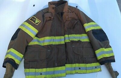 Firefighter Janesville Lion Apparel Turnout Commando Coat 46x29 4629s 2008 Used