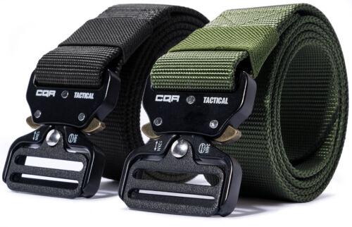 CQR Tactical Belt Heavy Duty Belt, Military Style Nylon Webbing EDC Metal Buckle