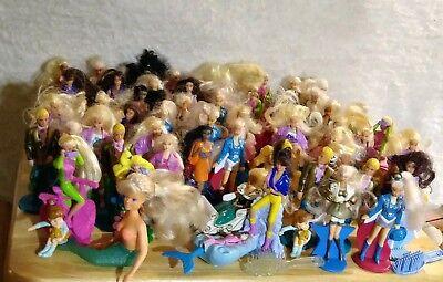 Barbies Mini Dolls MCDONALDS Happy Meal Toys Mixed Lot of 59 Hair Mermaid Horse
