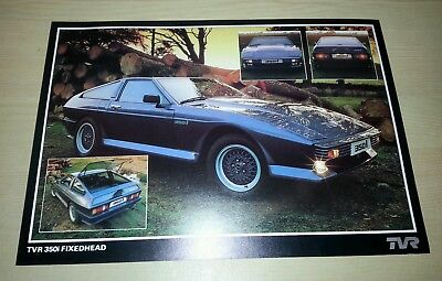 TVR 350i Fixedhead Brochure Very Good Condition FREE POST Tasmin 350 i Wedge FHC