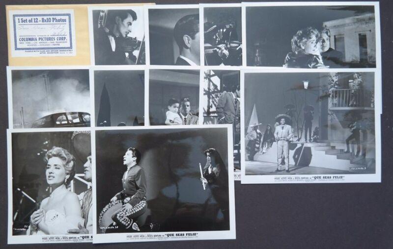 RARE Vtg 1956 Que Seas Feliz Movie Press Kit Photos (Miguel Aceves Mejua)
