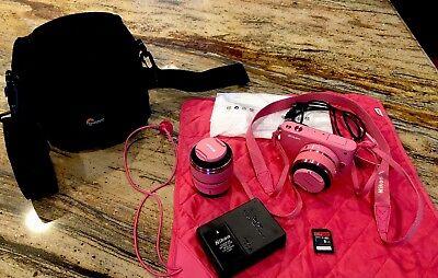 Nikon 1 J1 Mirrorless Camera 2 Lens Kit (Pink) 10-30mm, 30-100mm