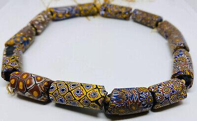 Nepal Beads Black Orange Stripes Size 18 mm 5 Pieces Beads Antique Trade Beads