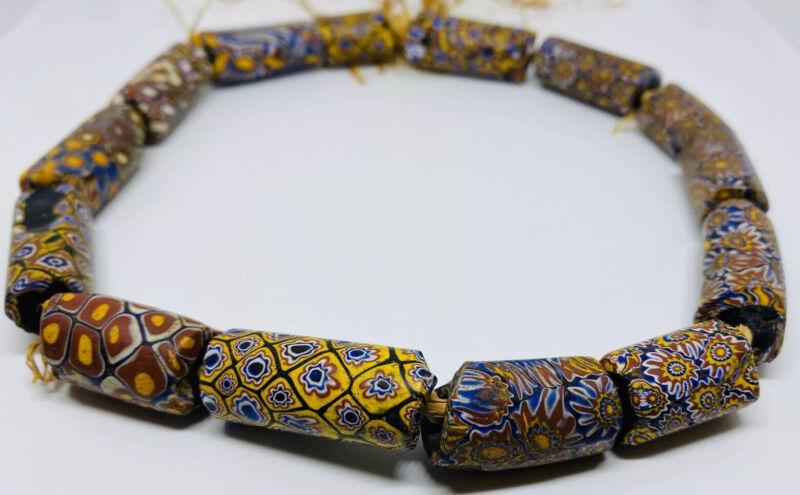 Antique Matched Venetian Millefiori African Trade Beads