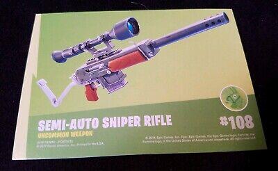 2019 Panini Fortnite  Series 1 SEMI-AUTO SNIPER RIFLE SSP #108 Uncommon Weapon ()