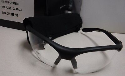 New Pair Radians Cheaters Safety Glasses  Clear Bi-Focal CH1 120R Clear +2.0 Q11