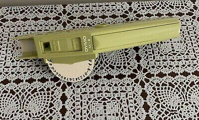 Vintage 1970 Dymo Label Maker M6 Green Lower Case Font For 14 Or 38 Tape