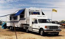 30' CUSTOM BUILT 5TH WHEELER & ''88 F250 IN FANTASTIC CONDITION Forrestfield Kalamunda Area Preview