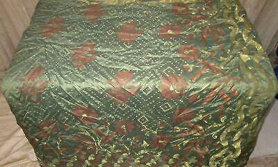 SILK BLEND Antique Vintage Sari Saree Fabric Material 4yd ZZ5 352 CRAFT HEAVY