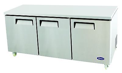 Atosa Usa Mgf8404 Stainless Steel Undercounter 72 3-door Refrigerator