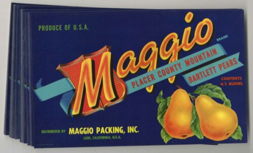 100 Maggio Brand Pear Crate Labels, Wholesale